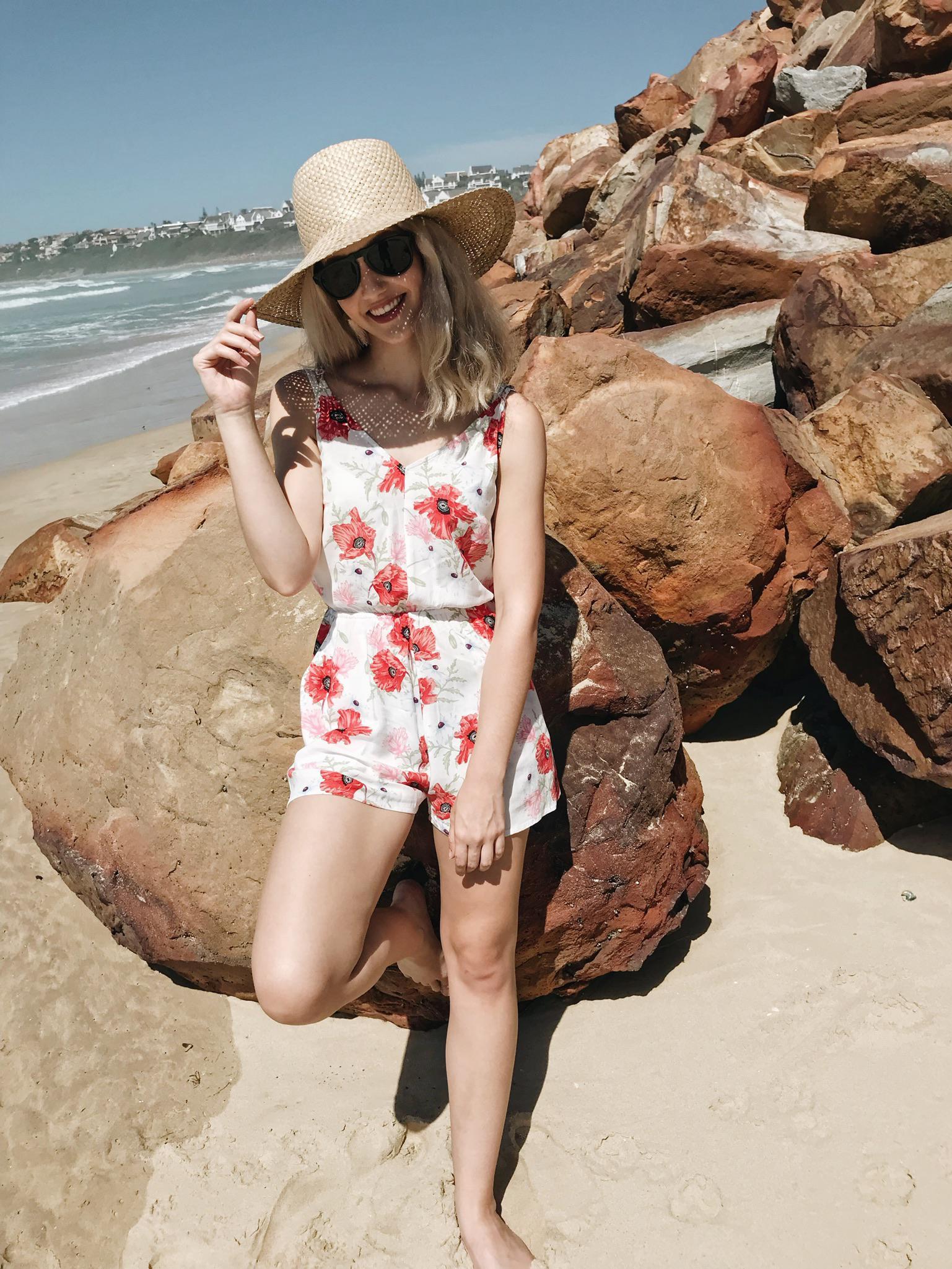 Lauren Carmen on the beach